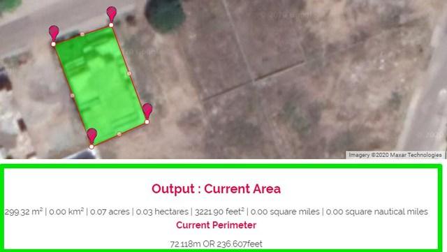 Measure area on Google Maps