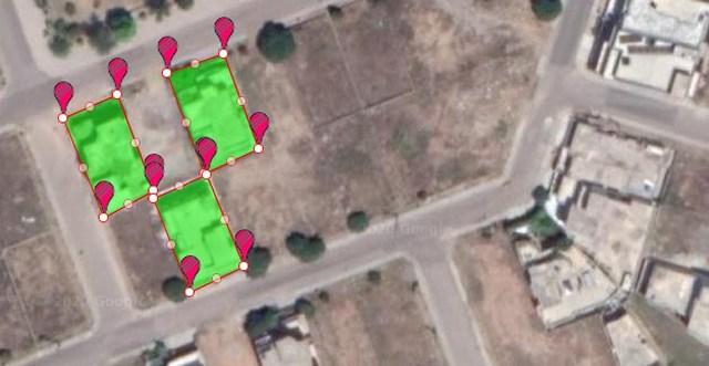 Measure multiple areas on Google Maps