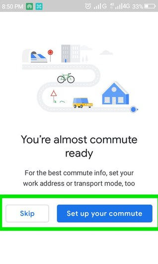 Set up your commute