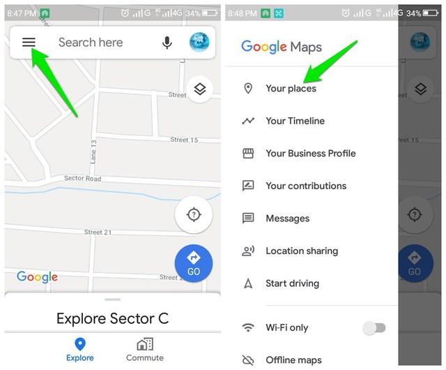 Your Places Google Maps