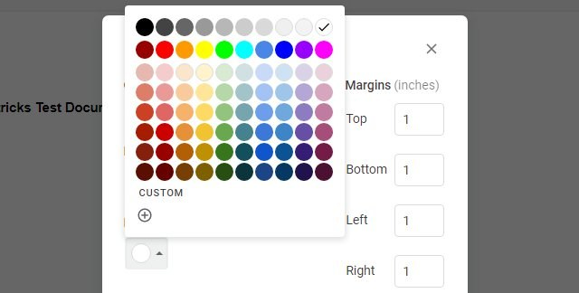 list of Page colors