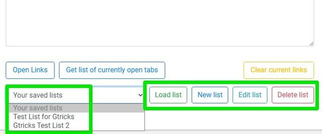 load saved lists