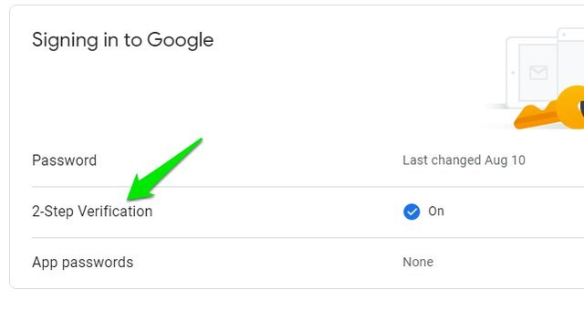 Google account 2 Step Verification