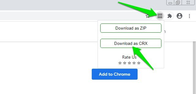 download Chrome extension CRX file