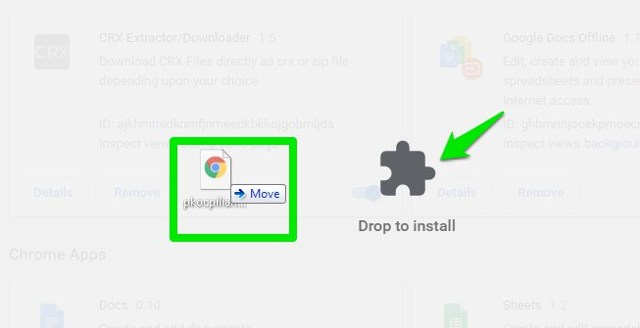 Manually install Chrome extensions