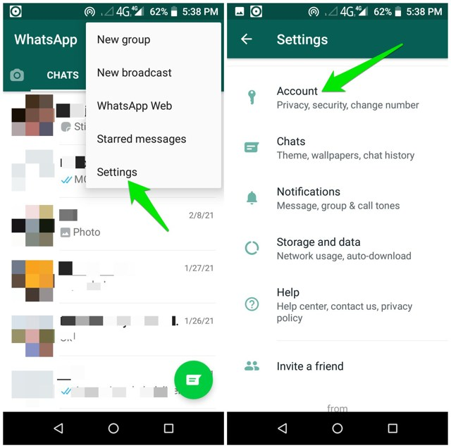 WhatsApp Acccount Settings