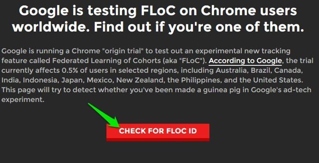 check if floc is enabled