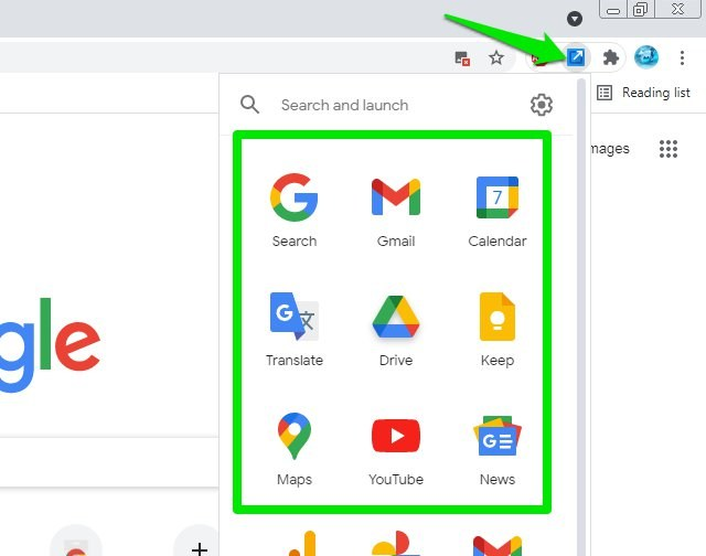 Shortcuts For Google Chrome Extension