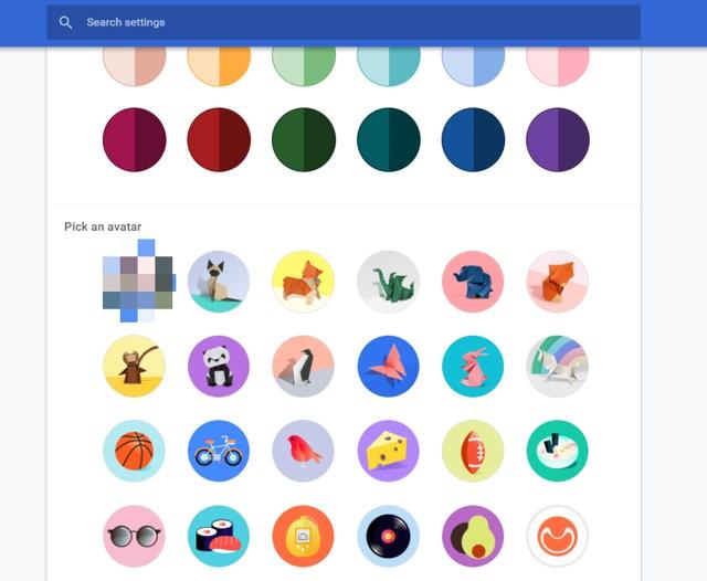 select preset avatars
