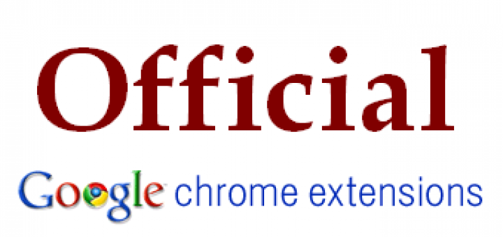 Offcial Chrome Extentions by Google image
