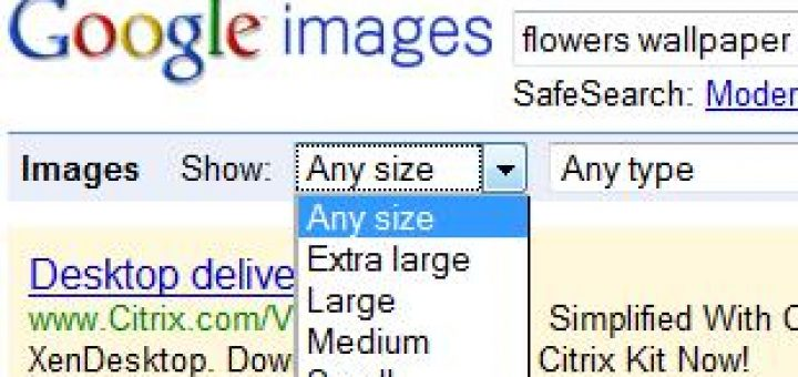 Search For Desktop Size Wallpapers By Simple Trick